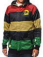 Neff Stripe Shredder Rasta Tech Fleece Jacket