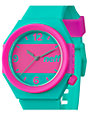 Neff Stripe Teal & Pink Analog Watch