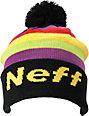 Neff Tasty Black Slouch Pom Beanie