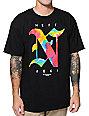 Neff x Aoki Aztec Tie Dye Black T-Shirt