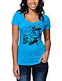Neff x Deadmau5 1 Up Turquoise Scoop Neck T-Shirt