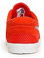 Nike SB Eric Koston 2 Lunarlon Pimento Red & Silver Suede Skate Shoes