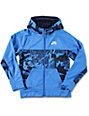 Nike SB Print Blocked Boys Blue Thermafit Tech Fleece Jacket