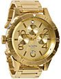Nixon 48-20 All Gold Chronograph Watch