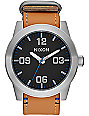 Nixon Corporal Leather Black & Neutral Analog Watch