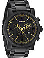 Nixon Magnacon SS Matte Black Chronograph Watch