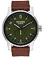 Nixon Patriot Leather Surplus & Brown Watch