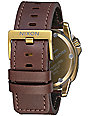Nixon Ranger Ops Leather Brass & Brown Watch