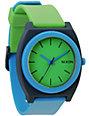 Nixon Time Teller P Green, Blue, & Navy Analog Watch