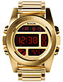 Nixon Unit SS Gold Digital Watch