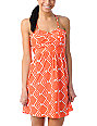 ONeill Luna Coral Orange Tribal Print Dress