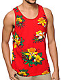 Obey Aloha Red Tank Top