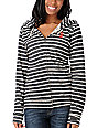 Obey Anchor Snake Black & White Stripe Zip Up Hoodie