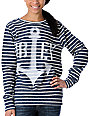 Obey Anchor Spray Navy Stripe Pullover
