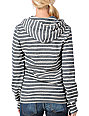 Obey Archery Front Charcoal & Cream Stripe Zip Up Hoodie