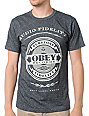 Obey Audio Fidelity Black Mock Twist T-Shirt