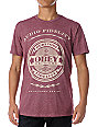 Obey Audio Fidelity Burgundy Mock Twist T-Shirt