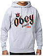 Obey Bar King Heather Grey Pullover Hoodie