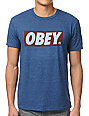 Obey Bar Logo Dark Navy Tri-Blend T-Shirt
