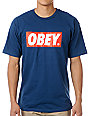 Obey Bar Logo Navy T-Shirt
