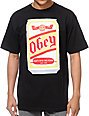Obey Beer Can Black T-Shirt