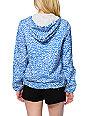 Obey Benchwarmer Blue Leopard Print Jacket