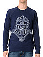 Obey Born Free Heather Indigo Blue Pullover Sweatshirt