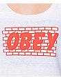 Obey Brick Wall White Tank Top