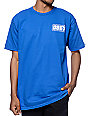Obey Brickwall Blue T-Shirt