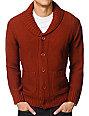 Obey Carver Dark Orange Cardigan Sweater