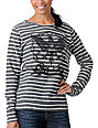 Obey Chain Eagle Charcoal Stripe Pullover Sweatshirt