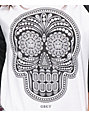 Obey Day Of The Dead Black & White Baseball Tee