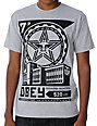 Obey Factory Lockup Heather Grey T-Shirt