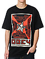 Obey Fire In The Sky Black T-Shirt