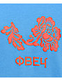 Obey Flower Delancey Blue Womens Crew Neck Sweatshirt