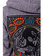Obey Flower Power Embroidered Purple Hoodie