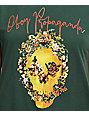 Obey Flower Skull Forest Green T-Shirt