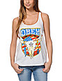 Obey Freedom Skull White Rookie Tank Top