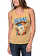 Obey Freedom Skull Yellow Felon Cut Off Tank Top
