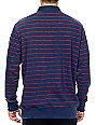 Obey Glassel Rugby Navy Long Sleeve Shirt