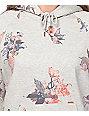 Obey Harper Grey Floral Hoodie
