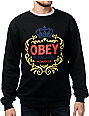 Obey Hi-Class Black Crew Neck Sweatshirt