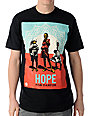 Obey Hope Darfur Black T-Shirt