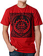 Obey Lotus LP Red T-Shirt
