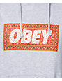 Obey Magic Carpet Heather Grey Pullover Hoodie