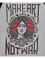 Obey Make Art Not War Heather Grey and Black Baseball Tee