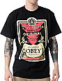 Obey Mens Infamous Black T-Shirt