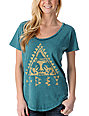 Obey Native Triangle Mineral Green Dolman T-Shirt