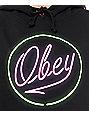 Obey Neon Black Hoodie
