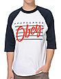 Obey Nine Nickel Navy & White Baseball T-Shirt